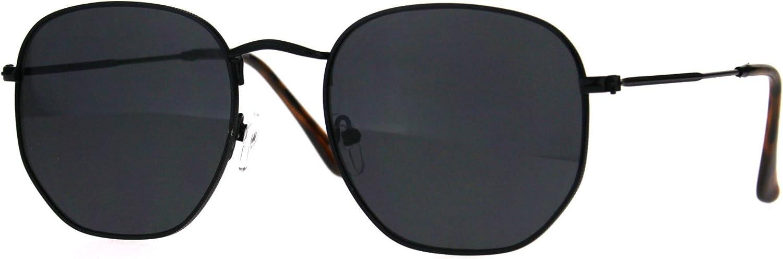 Classy Vintage Fashion Sunglasses Thin Metal Hexagon Shape Frame UV 400