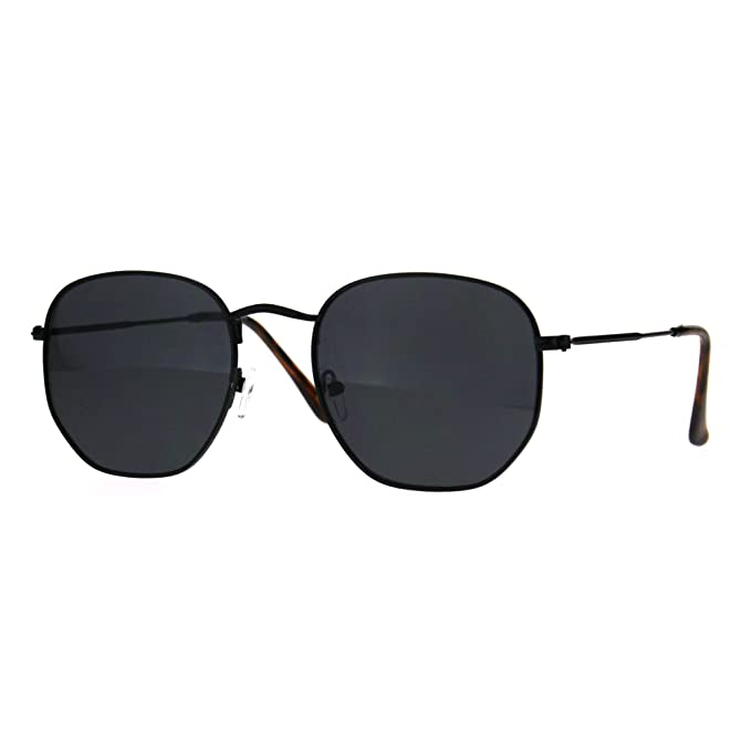 Classy Vintage Fashion Sunglasses Thin Metal Hexagon Shape Frame UV 400