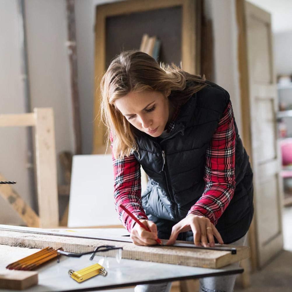 kingpo Herramienta para Trabajar la Madera Marcador Localizador Regla de Acero Localizador Marca Rascador M/áquina para dise/ño de carpinter/ía Escriba