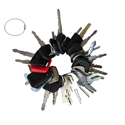 36 Key Set Construction Equipment Master Keys Set-Ignition Key Ring for Heavy Machines: Automotive