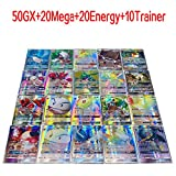 100 Cards TCG Style Card Holo EX Full Art! 50 GX+20 Mega+20 Energy+10 Trainer