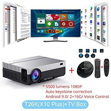 WHLDCD Proyector Proyector LED Nativo 1080p proyector Full ...