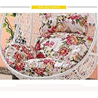 Soft Chair Cushion Hanging Egg Hammock Chair Cushions Without Stand,Swing seat Cushion Thick nest Hanging Chair Back with Pillow-B