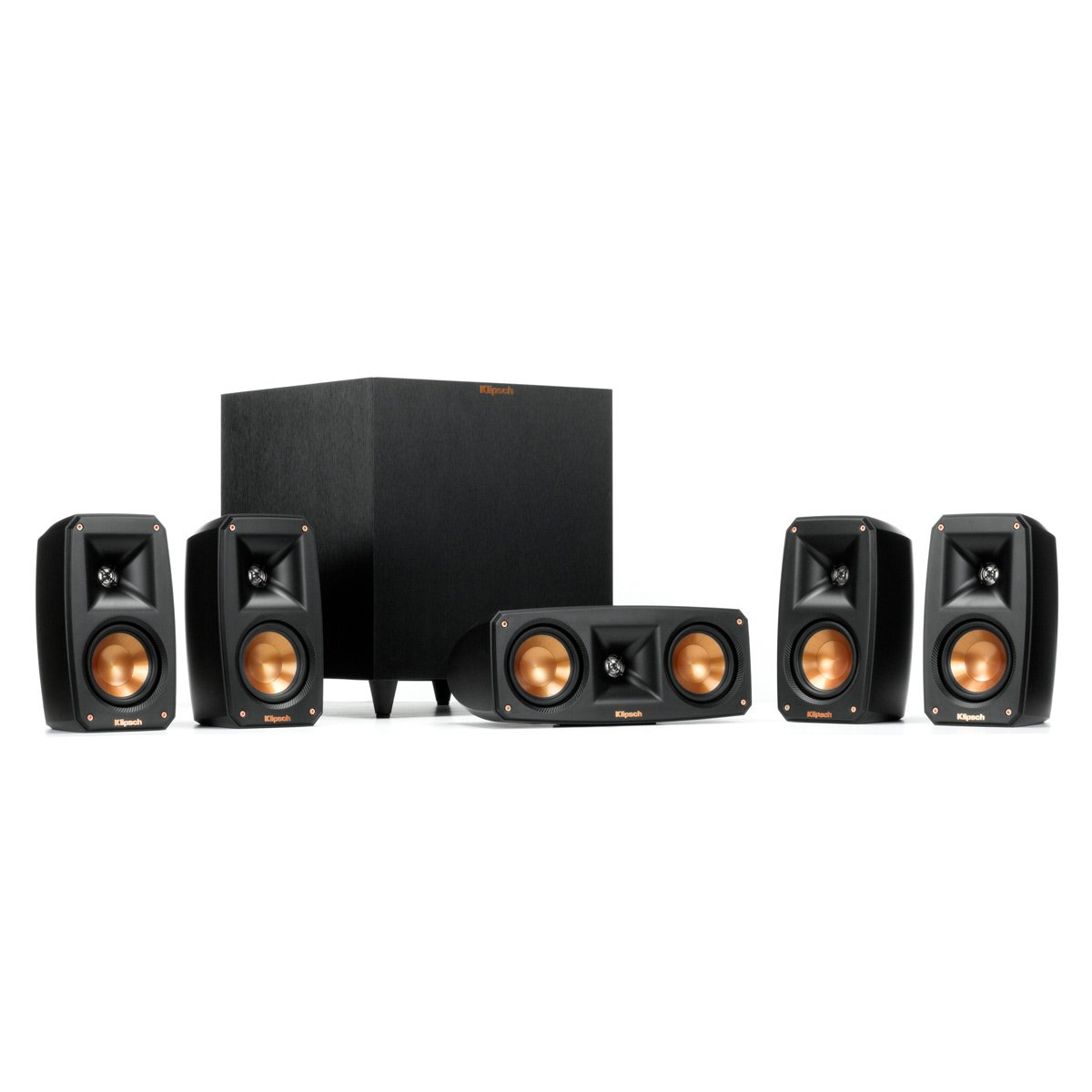Klipsch Black Reference Theater Pack 5.1 Surround Sound System by Klipsch