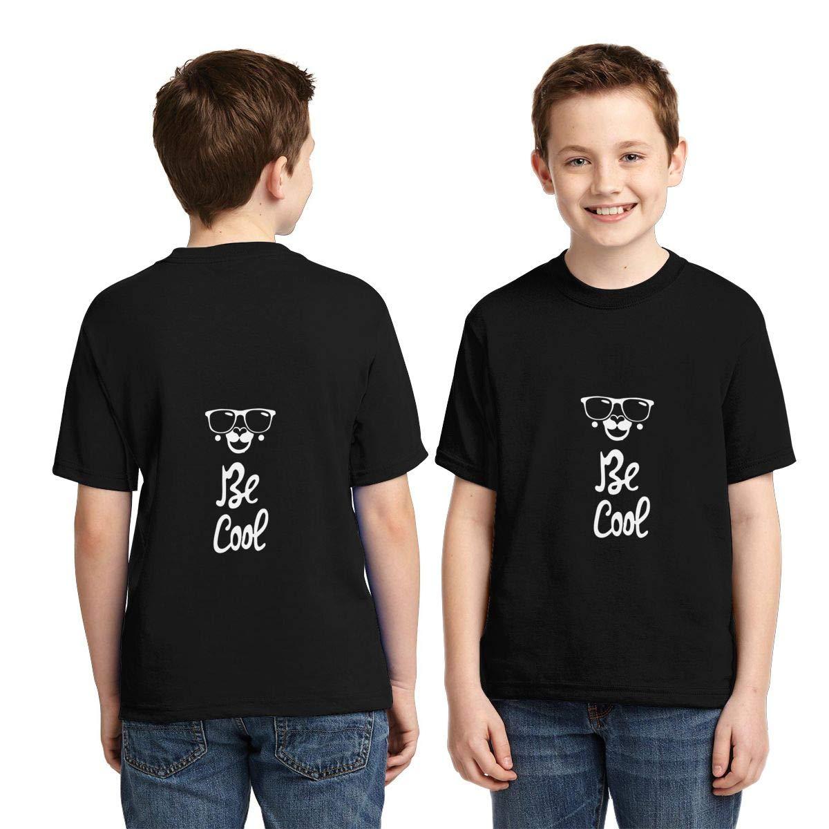 Vy32jg-2 Short Sleeve Llama Cool Shirts for Boys Kawaii Tunic Tops XS-XL