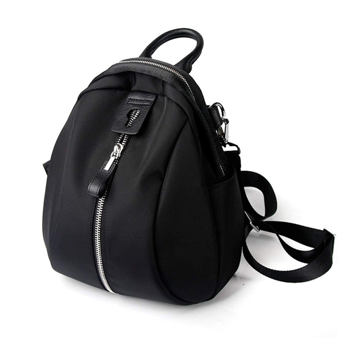 レディースカジュアル防水ナイロン布バックパック KAKACITY (色 : 黒) B07SMZ2WSL 黒