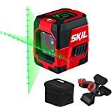 SKIL 65ft. Green Self-leveling Cross Line Laser Level with Projected Measuring Marks, Rechargeable Lithium Battery with…