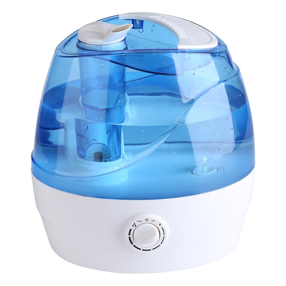 Cool Mist Humidifier, 2.2L Adjustable Air Humidifier Mist Maker Automatic Shut-off Premium Humidifying Unit for Yoga Spa Home Office Babies, Quiet Operation