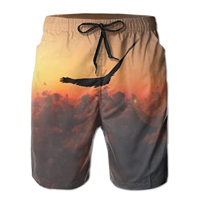 A Bird That Flies Freely in The Sunset FreedomHandsome Fashion Summer Cool Shorts Swimming Trunks Beachwear Beach Shorts