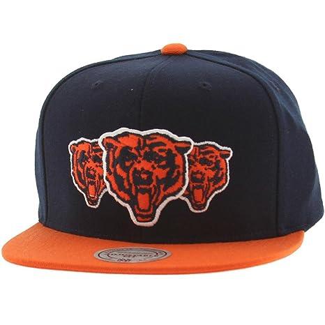 7ca7c8571 ... australia chicago bears mitchell ness nfl triple stack logo snap back  hat 31b76 b241b