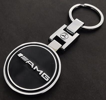 Llavero de lujo para Mercedes Benz, color negro y cromado ...