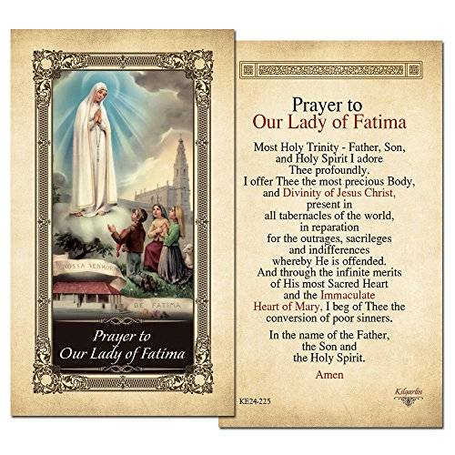 Our Lady of Fatima Laminated Holy Card - Pack of 25