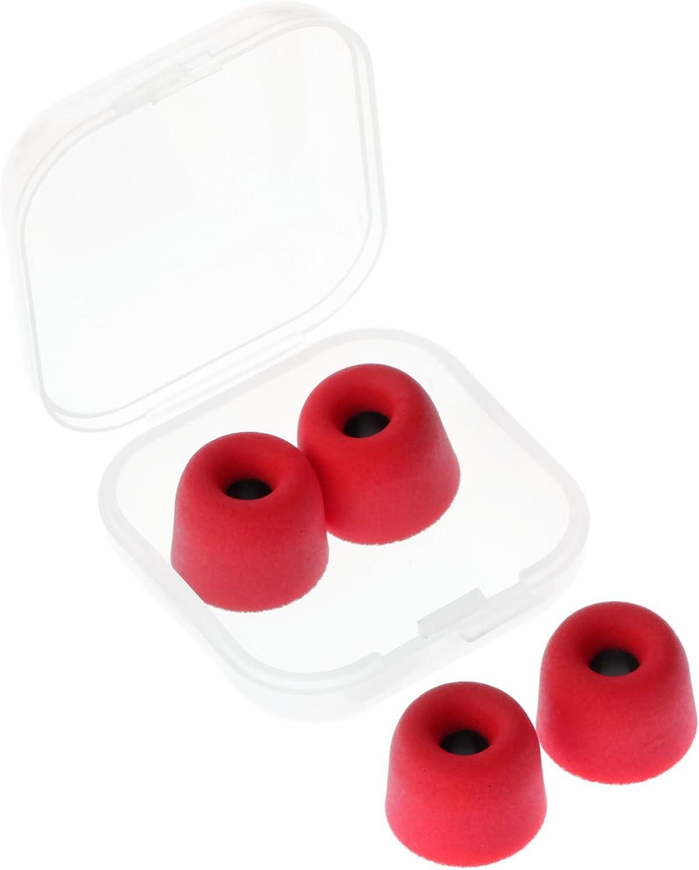2 Pairs 4.5mm Universal Memory Foam Ear Tips W Box Earbud Earphone Re-shapeable