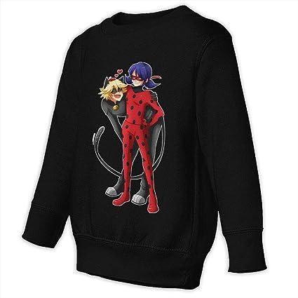CICIART Miraculous Ladybug and Cat Noir Hooded Kids Girls Boys Hoodie Sweatshirt Long Sleeve Fleece Pullover