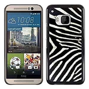 PC/Aluminum Funda Carcasa protectora para HTC One M9 Zebra Pattern Whote Black Stripes Nature / JUSTGO PHONE PROTECTOR