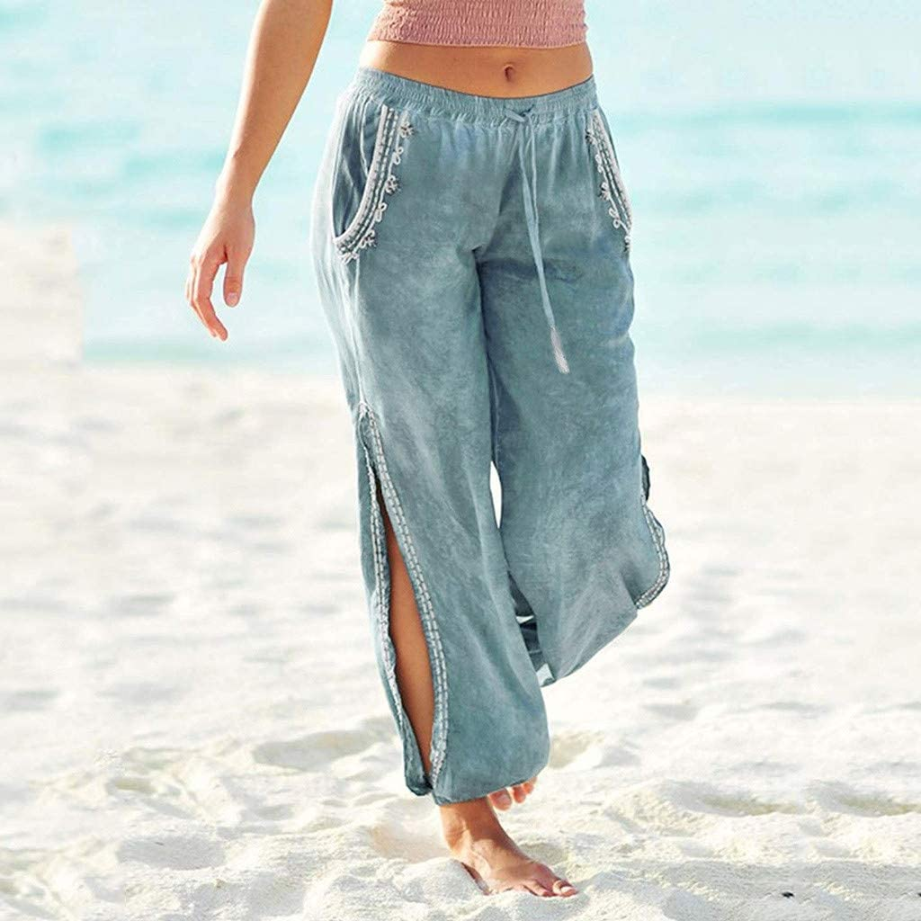 Bohemian Elephant Harem Loose Yoga Travel Lounge Festival Casual Beach Pants