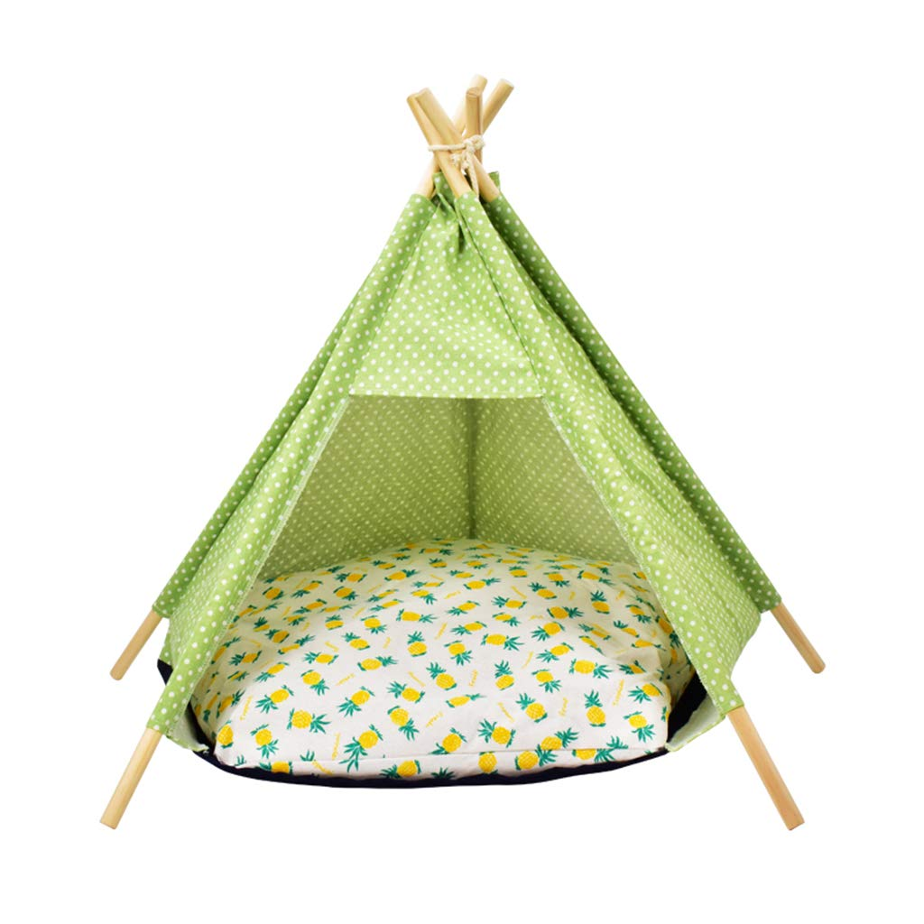 E Pet Teepee Dog(Puppy) & Cat Bed Portable Indoor Pet Tents & Houses for Dog(Puppy) & Cat,Five colors(52  72cm)
