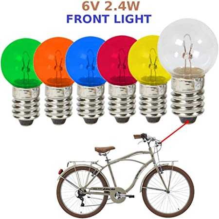 Replacement bulbs 6V 2.4W E10 Bicycle Light Bulb for Standard Headlight Lamp