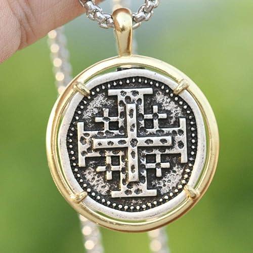 Jerusalem Crusaders Cross Templar Mens Hebrew Jewelry Greek Crosses Symbol of Christ