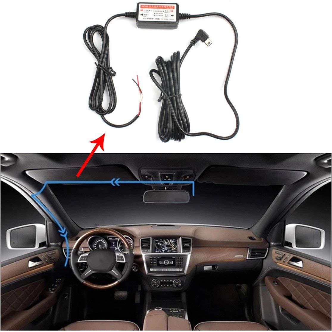Scatola di Alimentazione per DVR Nero in plastica per Auto Dedicato Caricatore per registratore di Dati di Viaggio 12 v 24 V a 5 v Modulo Step-Down