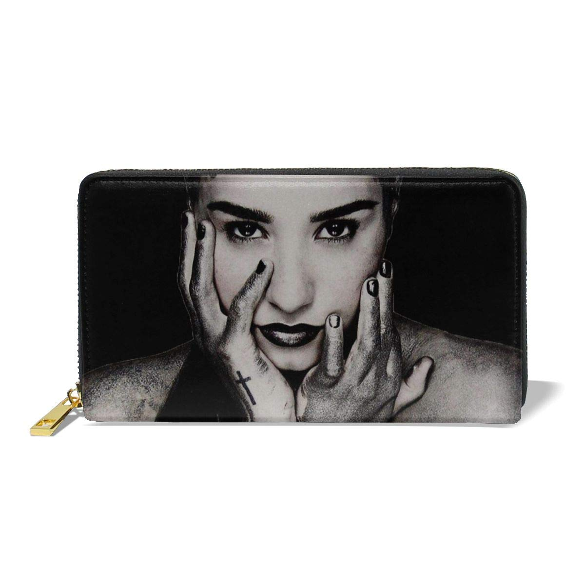 XJLGGMHDS Demi Lovato Unisex Wallet Zipper Closure Card Slots Zippered Coin Pouch