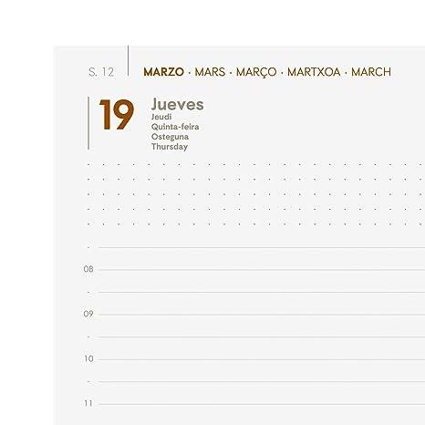 Finocam - Agenda 2020 1 día página Dynamic Mara Negro español