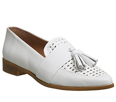 380d1fb522d1c Office Front Page Point Woven Loafer White Leather - 8 UK: Amazon.co ...