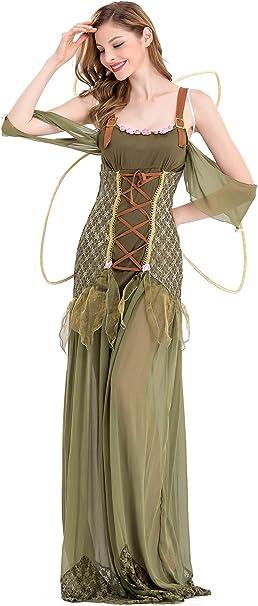 Prettycos Disfraz de Hada Halloween para Mujer, Disfraz de ...