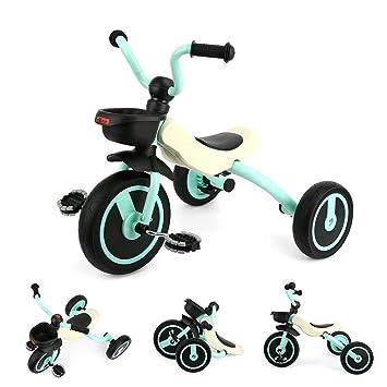Gosfun Triciclo Bicicleta y Vehículo 3 Ruedas para Niños de 2 a 5 años, Carga