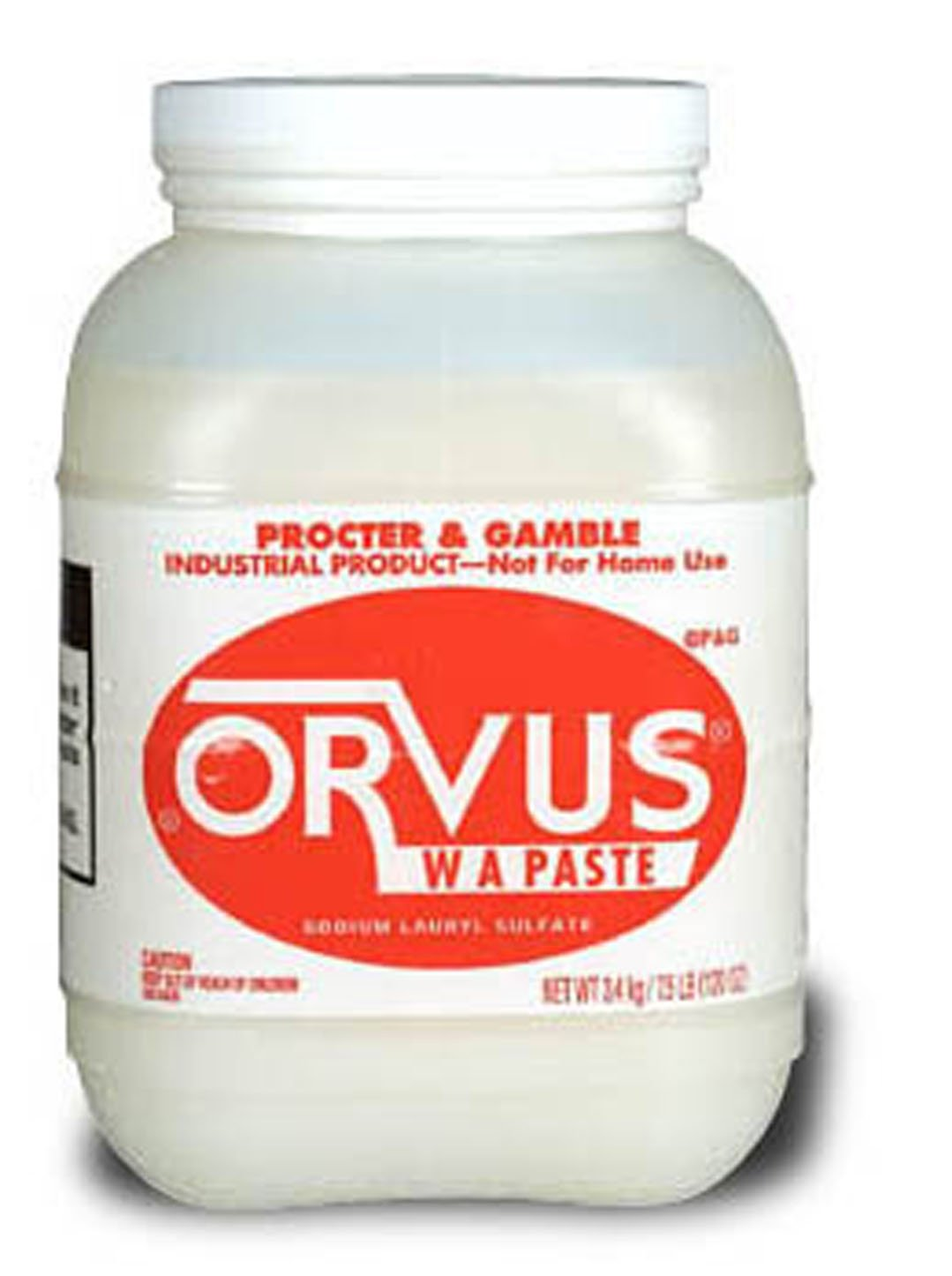Procter & Gamble 02531 Orvus W A Paste- 7.5 lb. Bottle- 4/Carton B004M5MGNI