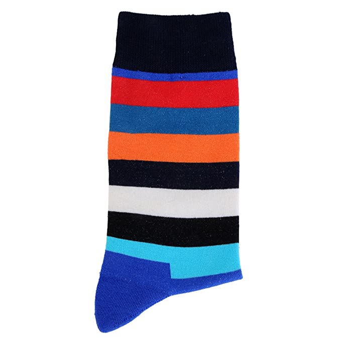 Amazon.com: Mens and Women Funny Colorful Patchwork Striped Cotton Socks Happy Socks Calcetines Largos Hombre: LITTHING: Clothing