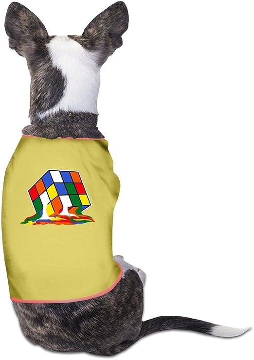 hfyen Melting Cubo de Rubik diario mascota perro ropa camiseta ...