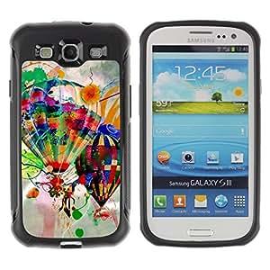 "Hypernova Defender Series TPU protection Cas Case Coque pour Samsung Galaxy S3 III I9300 [Diseño Globos del aire caliente""]"