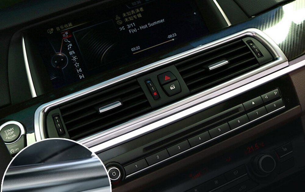 Auto Parts Chrome console climatizzatore Vent cover Trim accessori interni auto styling Agodor
