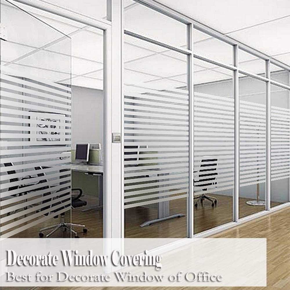 Premium No-Glue 3D Static Decorative Privacy Film Bloss Window Films Niviy 1.5Ft X 6.5Ft