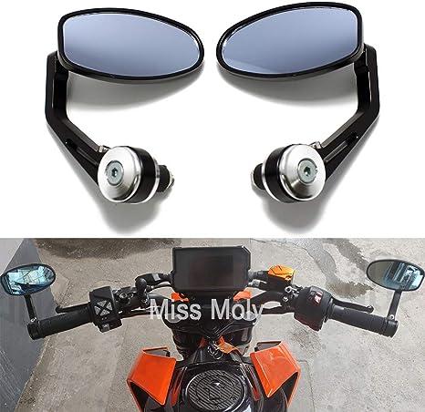 22 mm manubrio laterali retrovisori moto alluminio fine specchi specchietti laterali per Yamaha per Kawasaki per Ducati