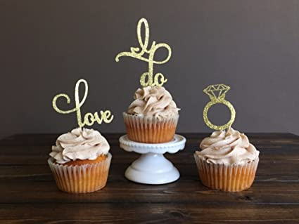 engagement cupcake toppers picks bridal showervalentine daywedding party favors cake decorations