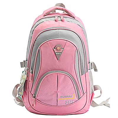 Geertop Cute Girls Backpack for School Bookbag for College Outdoor Fashion Daypack (Pink)