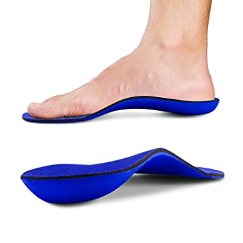 14cfa68f33 Full Length Orthotic Inserts with Arch Support - Shock Absorption & Cushioning  Insoles for Plantar Fasciitis