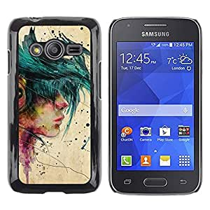 Exotic-Star ( Music Girl Emo Hipster Beige Paint ) Fundas Cover Cubre Hard Case Cover para Samsung Galaxy Ace4 / Galaxy Ace 4 LTE / SM-G313F