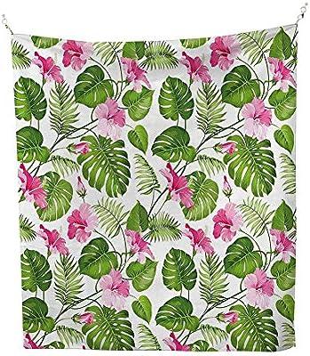 Amazoncom Anshesix Leaf Wall Tapestry Hawaiian Hibiscus Crystal