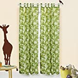 Disney Safari Quest Camouflage Drapes Window Treatment - 2 Panels each 42x84
