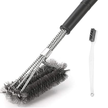 Wire Cleaning Brush   Amazon Com Grill Brush Cleaner Best Bbq Wire Bristles Brush 18