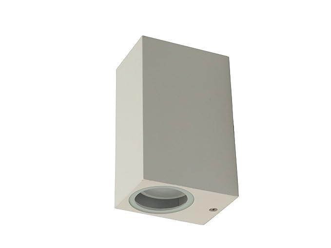Applique lampada parete per esterno moderno quadrato bianco: amazon