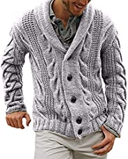 Winter Autumn Men Knitted Sweater Single Breasted Buttons Cardigan Overcoat Warm Jacket Coat
