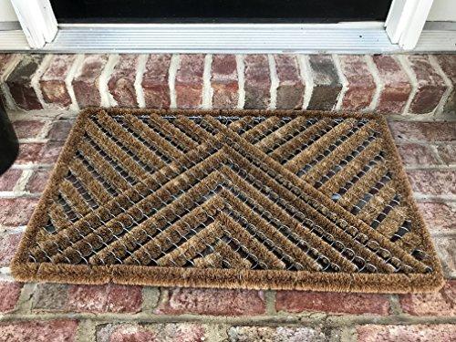 (THM Mats Natural Coir Wire Door mat (30L X 18W))