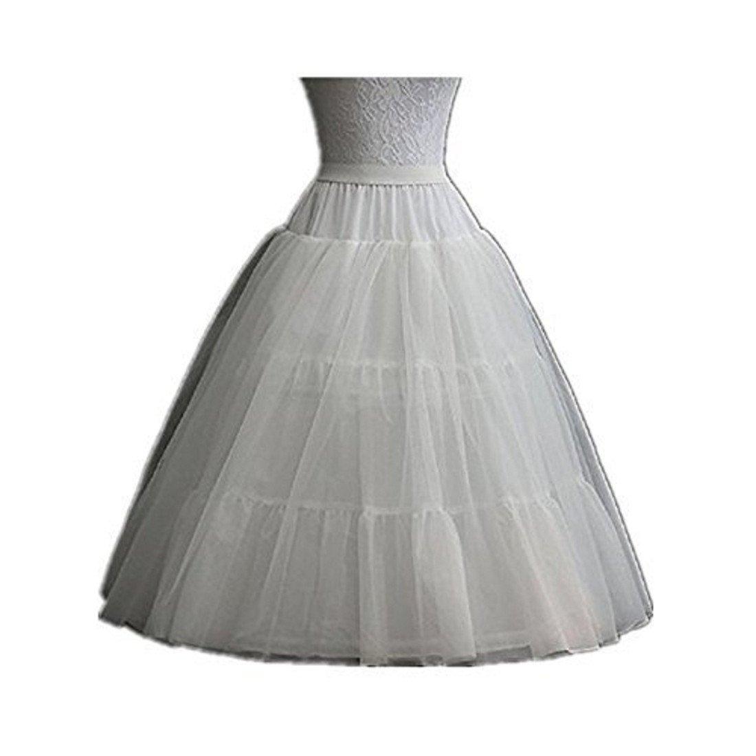Noriviiq Kids Hoop/Hoopless Petticoat Underskirt Crinoline for Girls Princess Dress S9991350173-noca