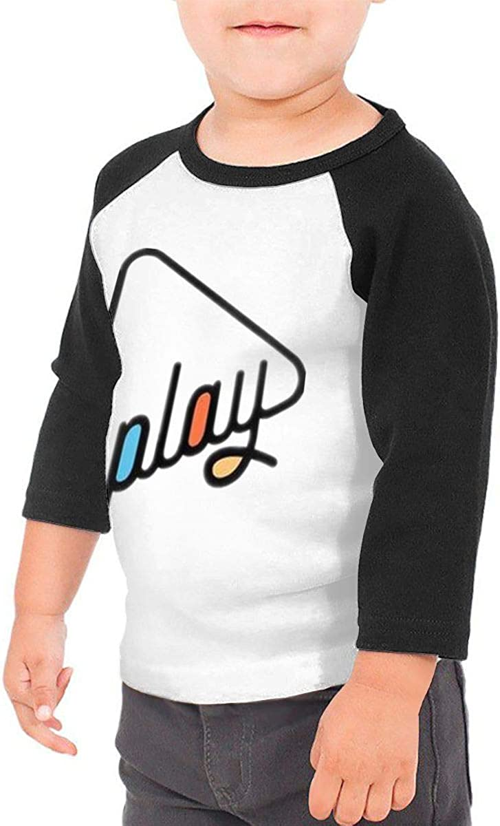 Play Triangle Kids Jersey Raglan T-Shirt Children 3//4 Sleeve Baseball Shirt Top