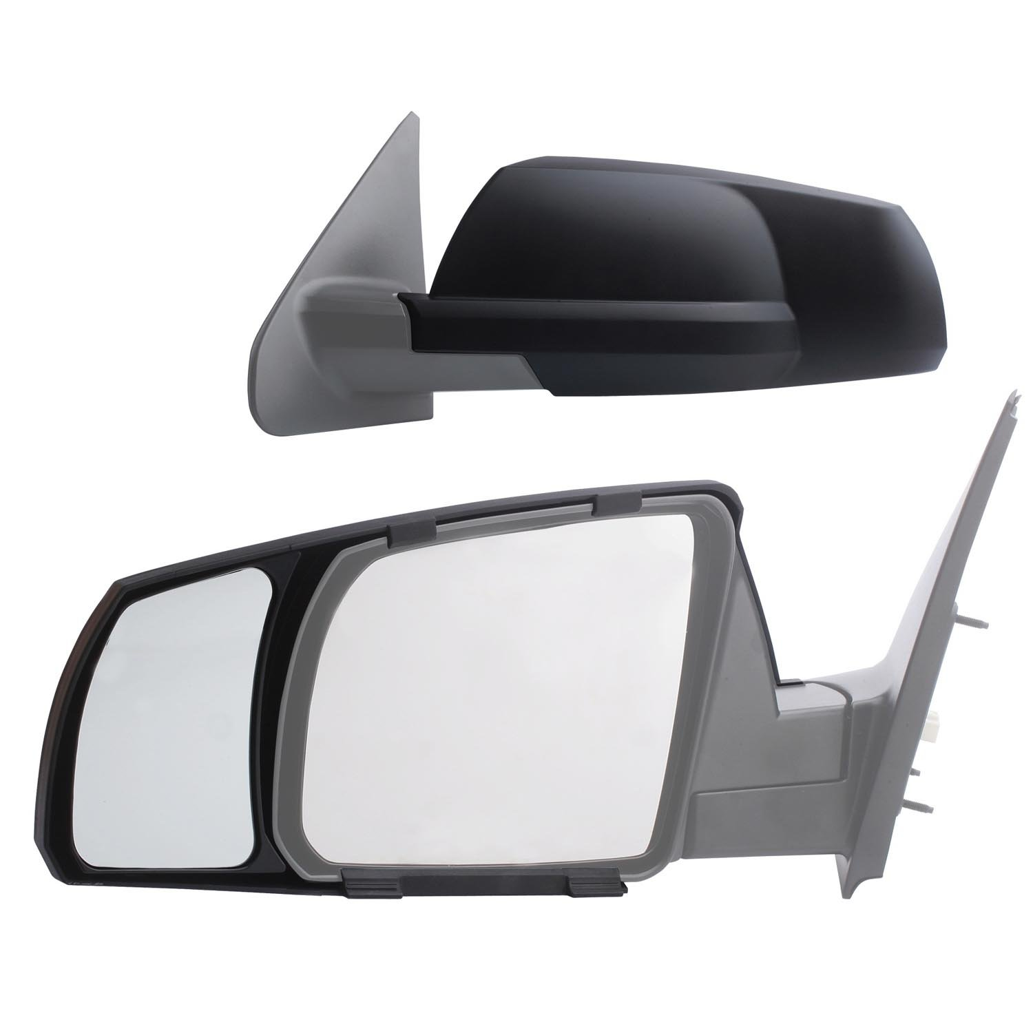 K-Source 81300 Snap-On Black Towing Mirror for Toyota Tundra/Sequoia, Pair Fit System
