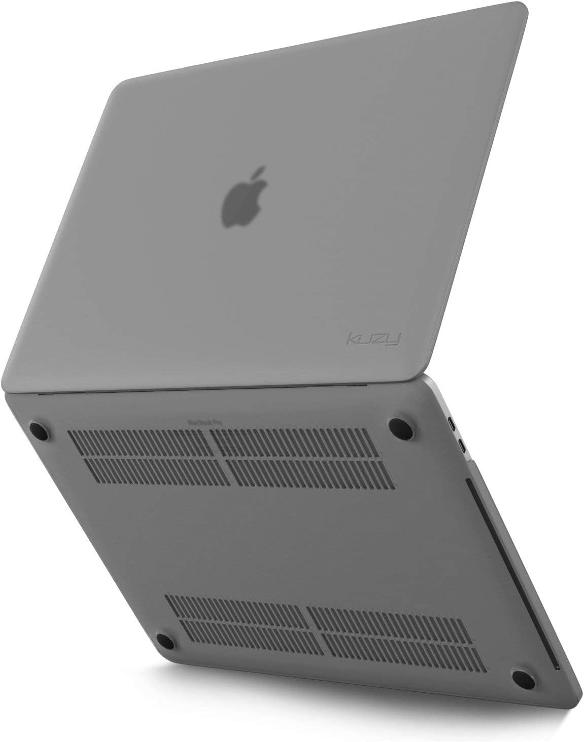 Kuzy MacBook Pro 13 inch Case 2020 2019 2018 2017 2016 Release A2289 A2159 A1989 A1706 A1708, Non-Slip, Fully Vented Heat Disbursement Plastic Hard Shell MacBook Pro Case with Touch Bar Soft, Gray